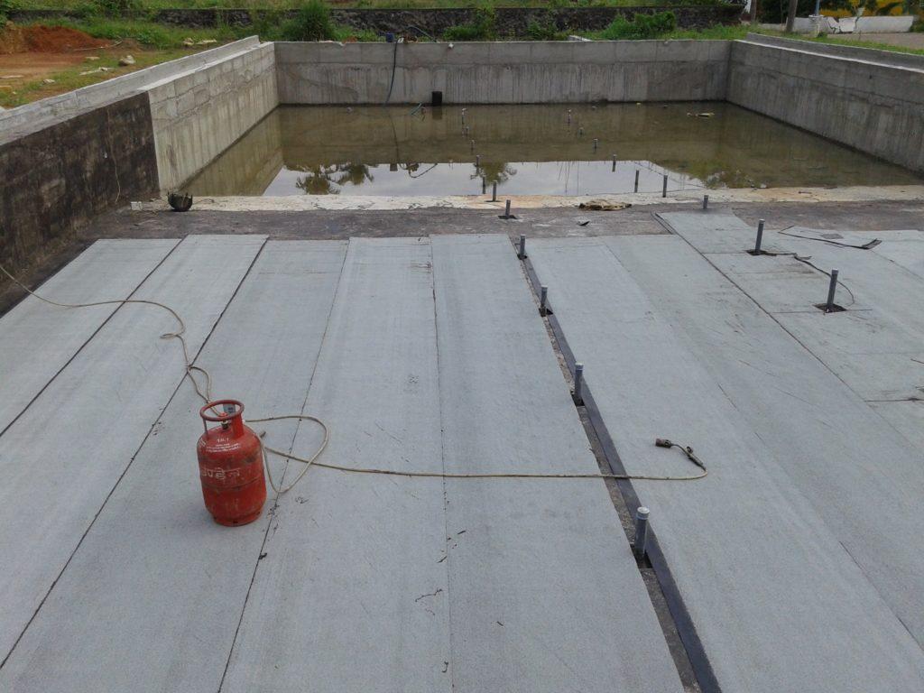 APP Bitumen membrane work for basement