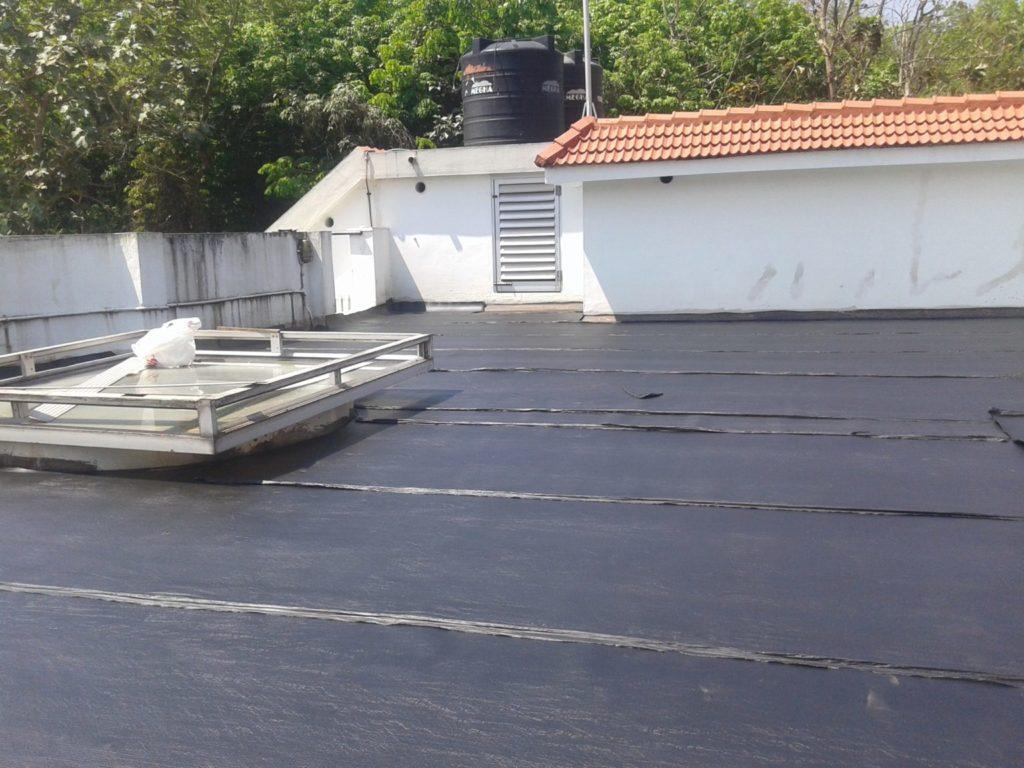 App Bitumen membrane for waterproofing of terrace.