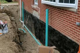 Exterior basement waterproofing