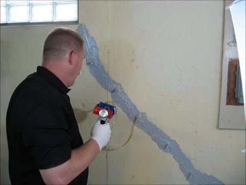 Foundation crack injection